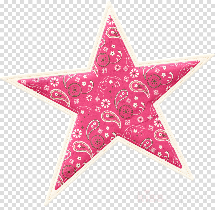 pink star magenta astronomical object ornament