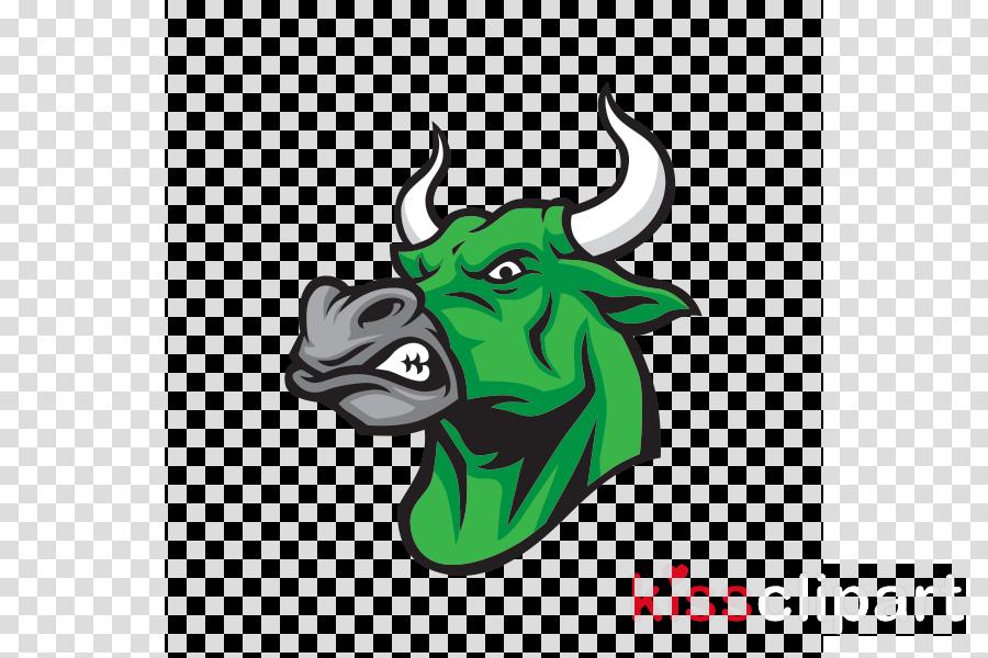 bull green head bovine cartoon