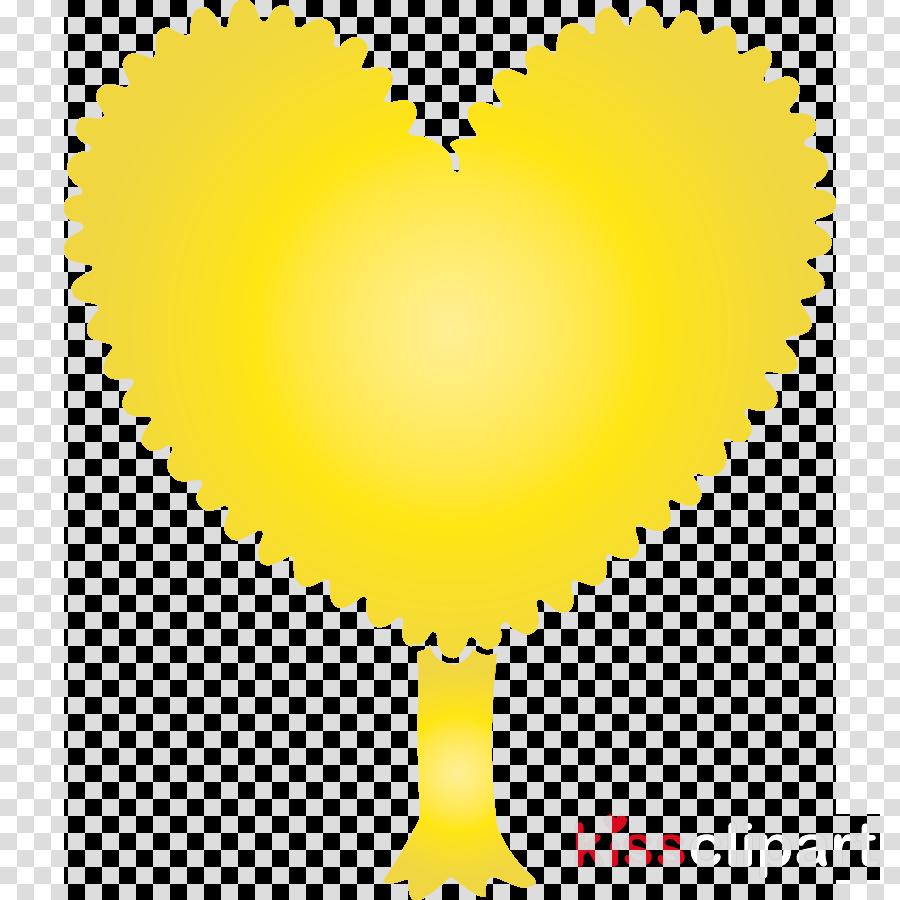 yellow heart heart love symbol
