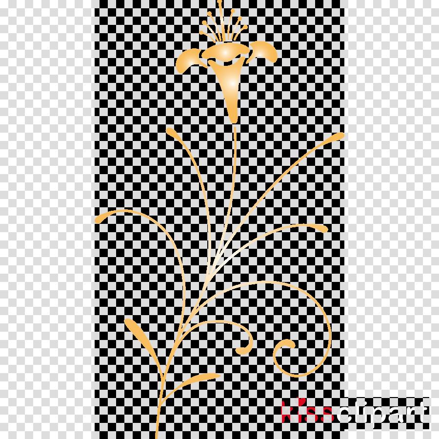 yellow leaf line plant flower