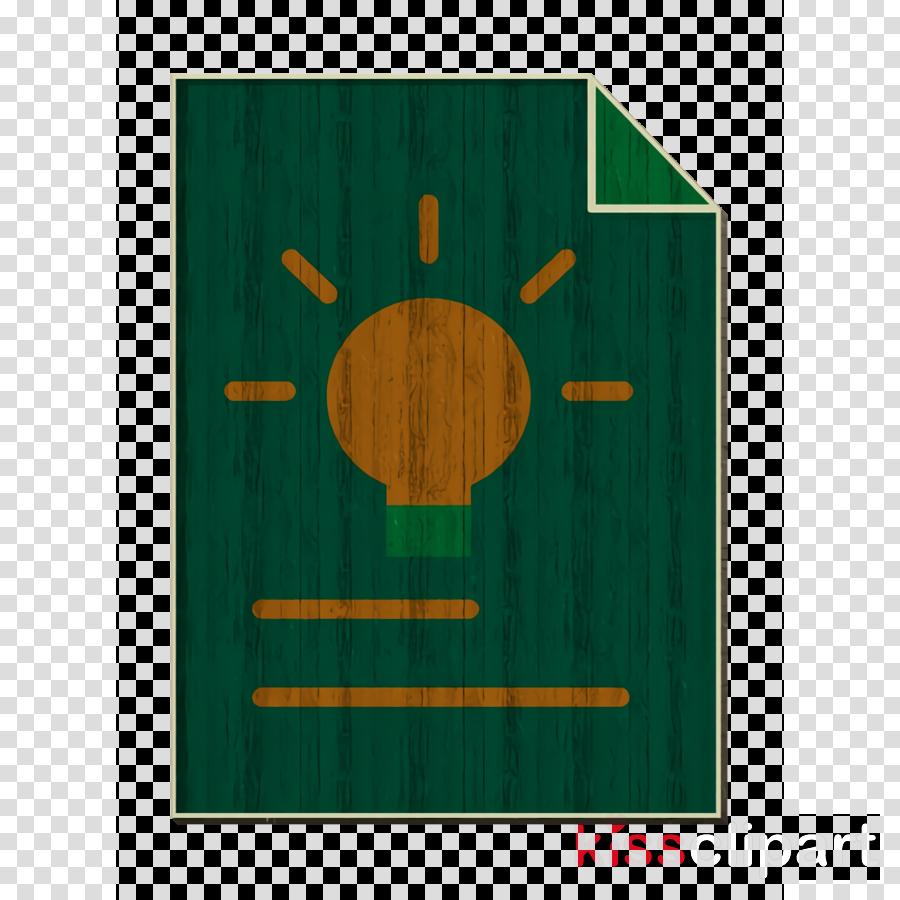 Files and folders icon Creative icon Light bulb icon