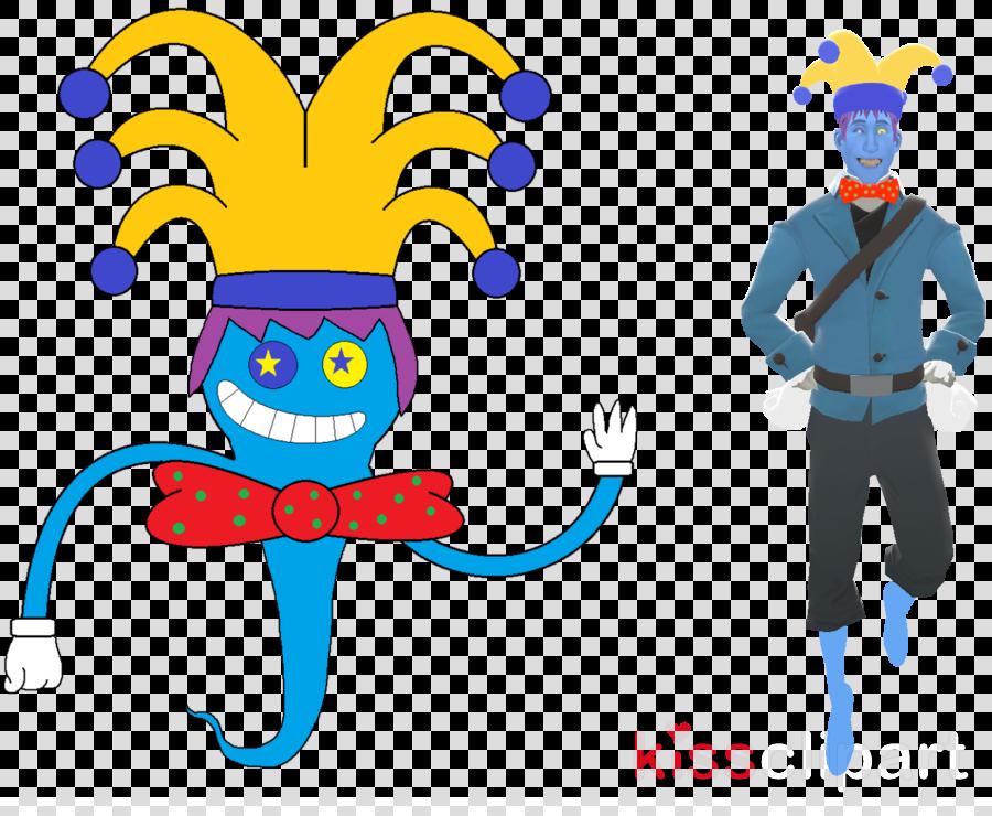 cartoon line jester