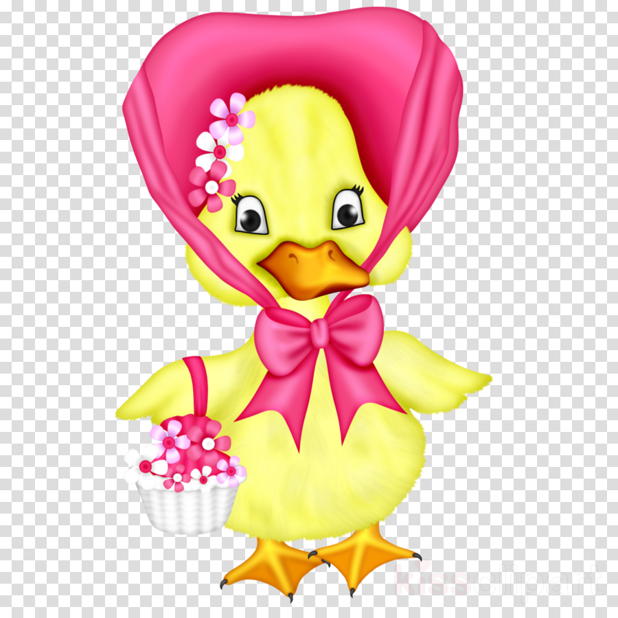 cartoon pink yellow toy duck
