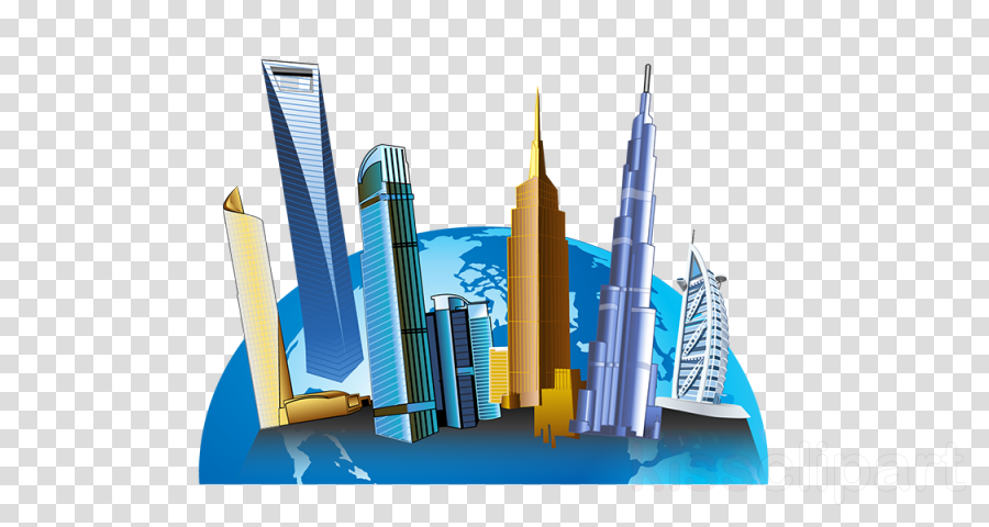 skyscraper human settlement city diagram skyline
