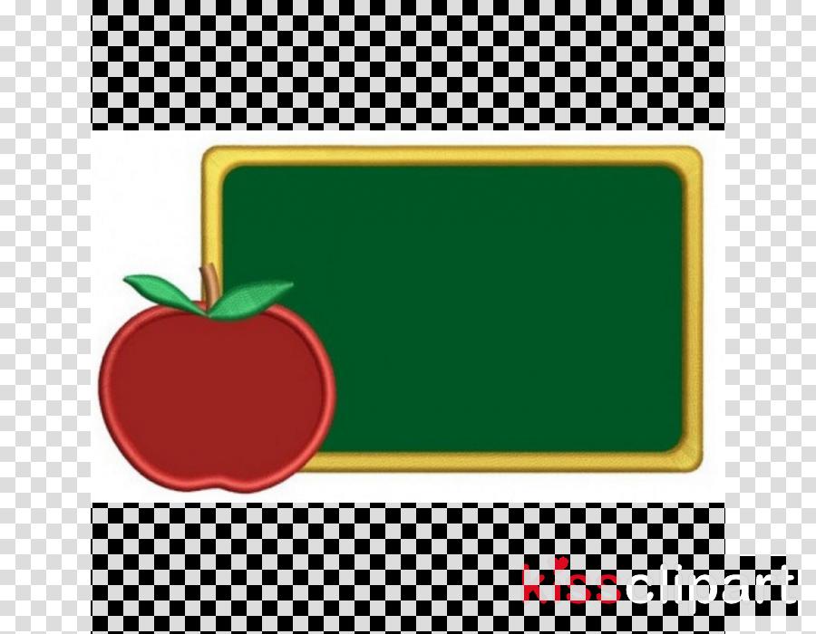 green apple fruit label blackboard