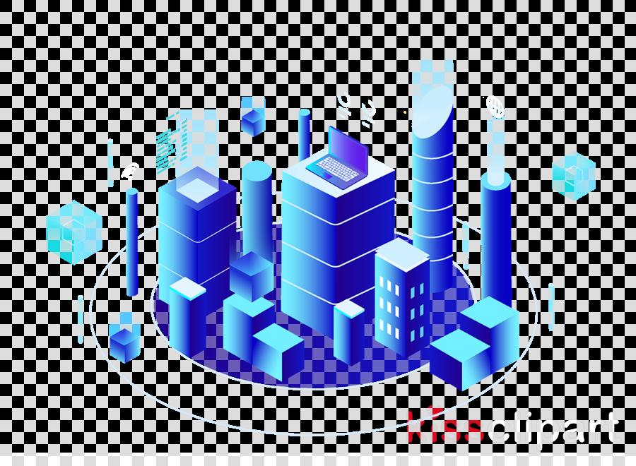 blue human settlement city skyscraper font