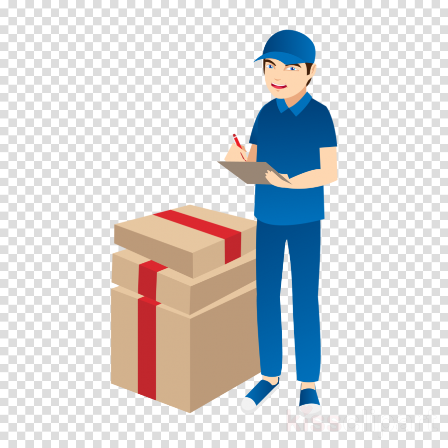 package delivery warehouseman standing box relocation