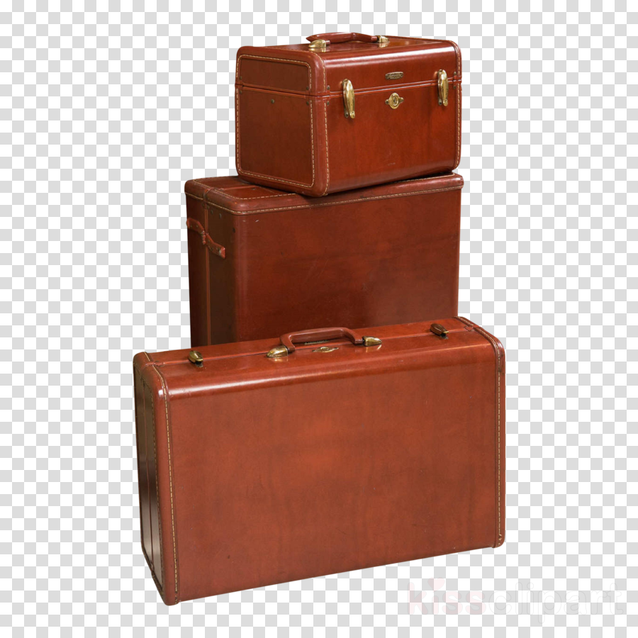 suitcase leather baggage brown tan