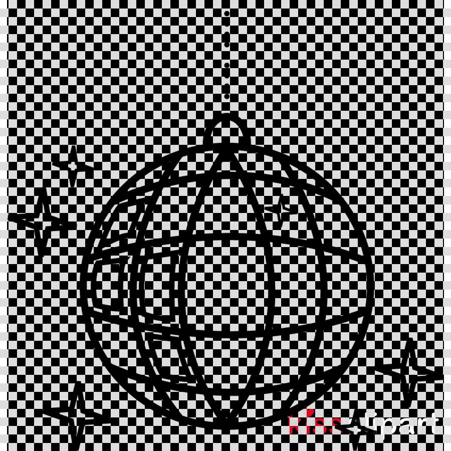 line sphere font light fixture ornament