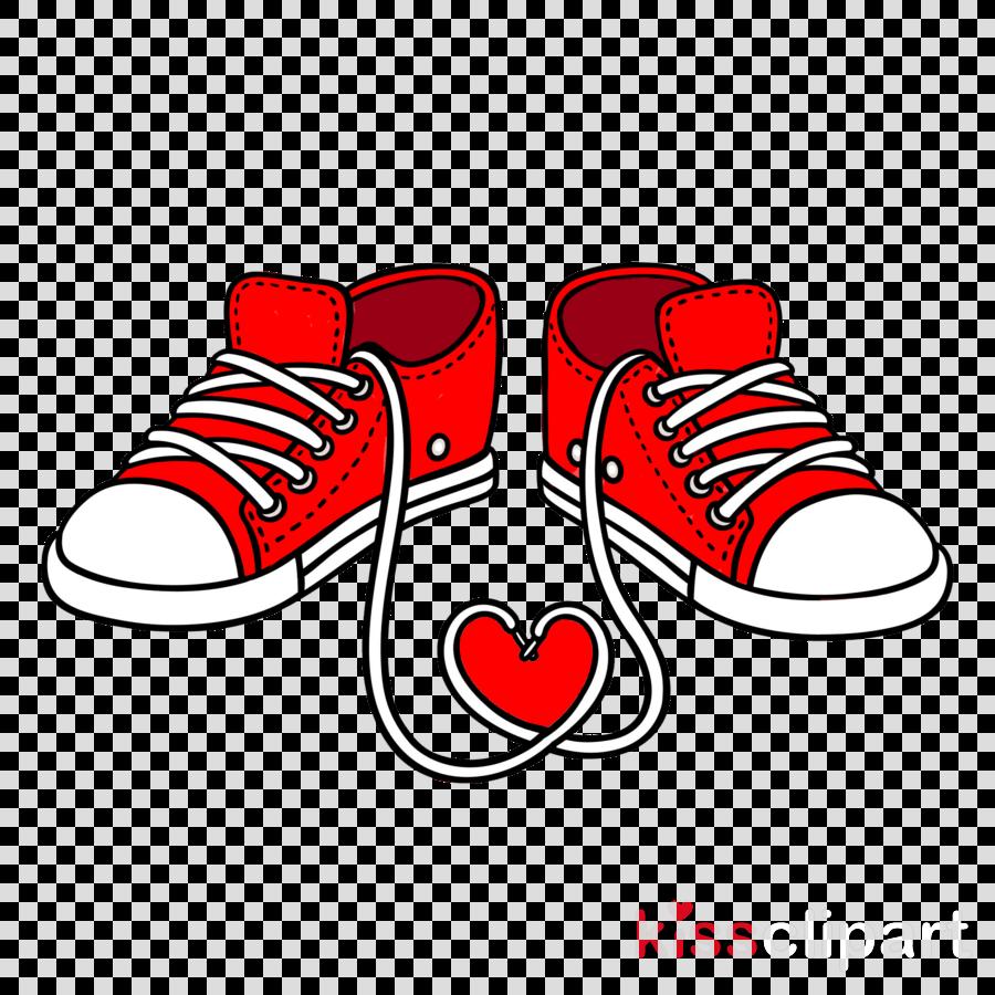 footwear red shoe line heart