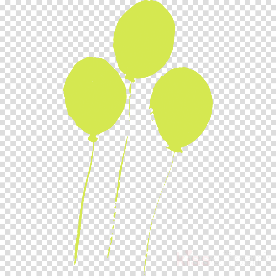 green yellow balloon plant stem party supply