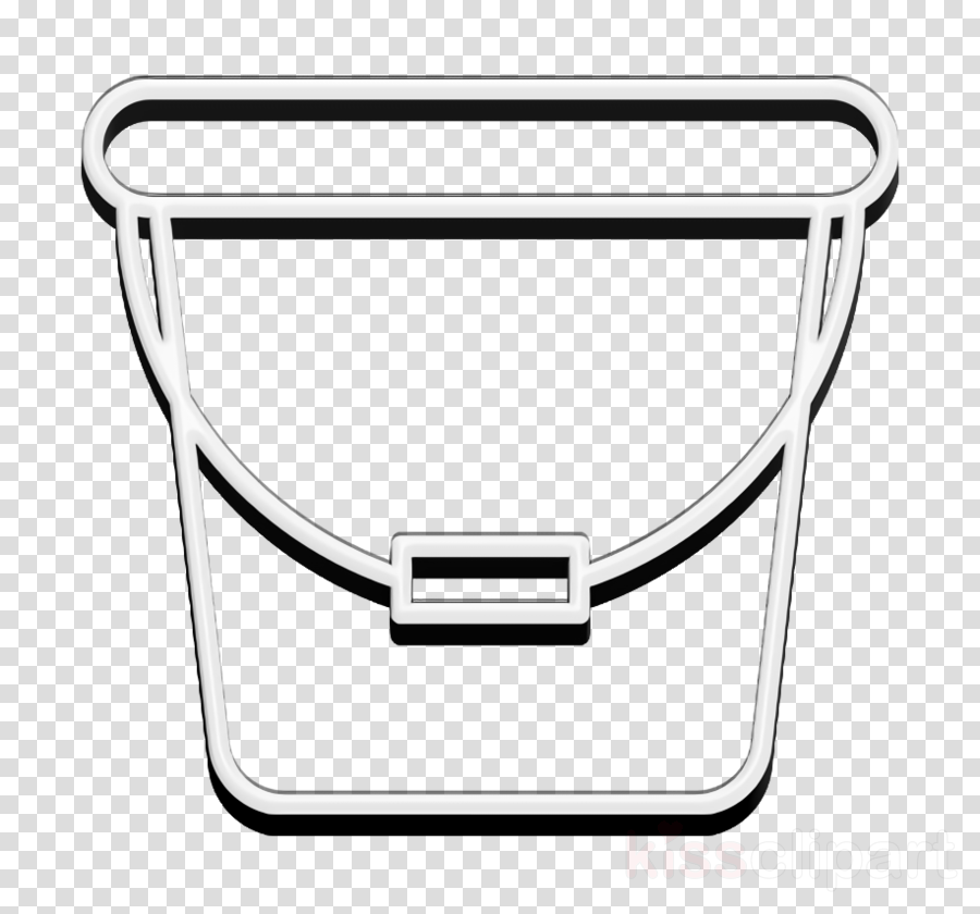 Bucket icon Cleaning icon