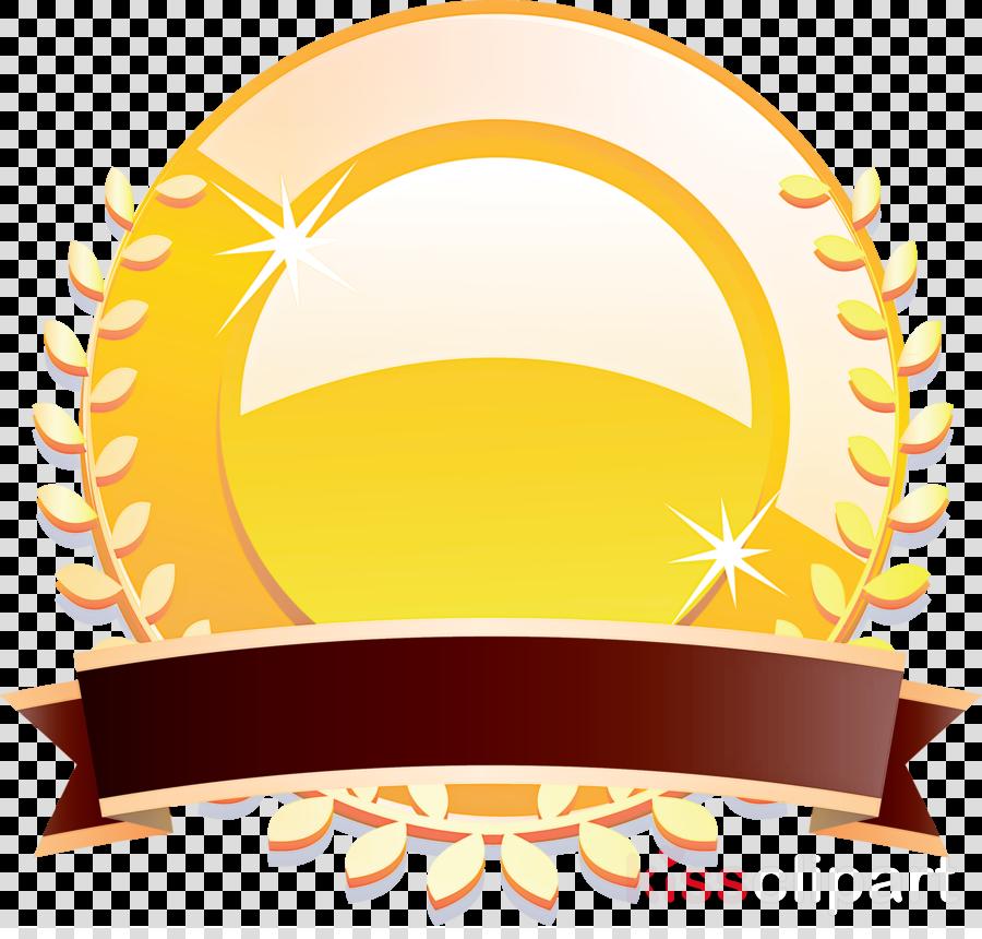 gold badge ribbon badge blank badge