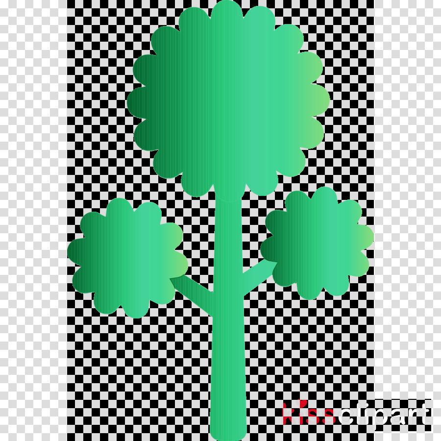 green leaf symbol tree plant