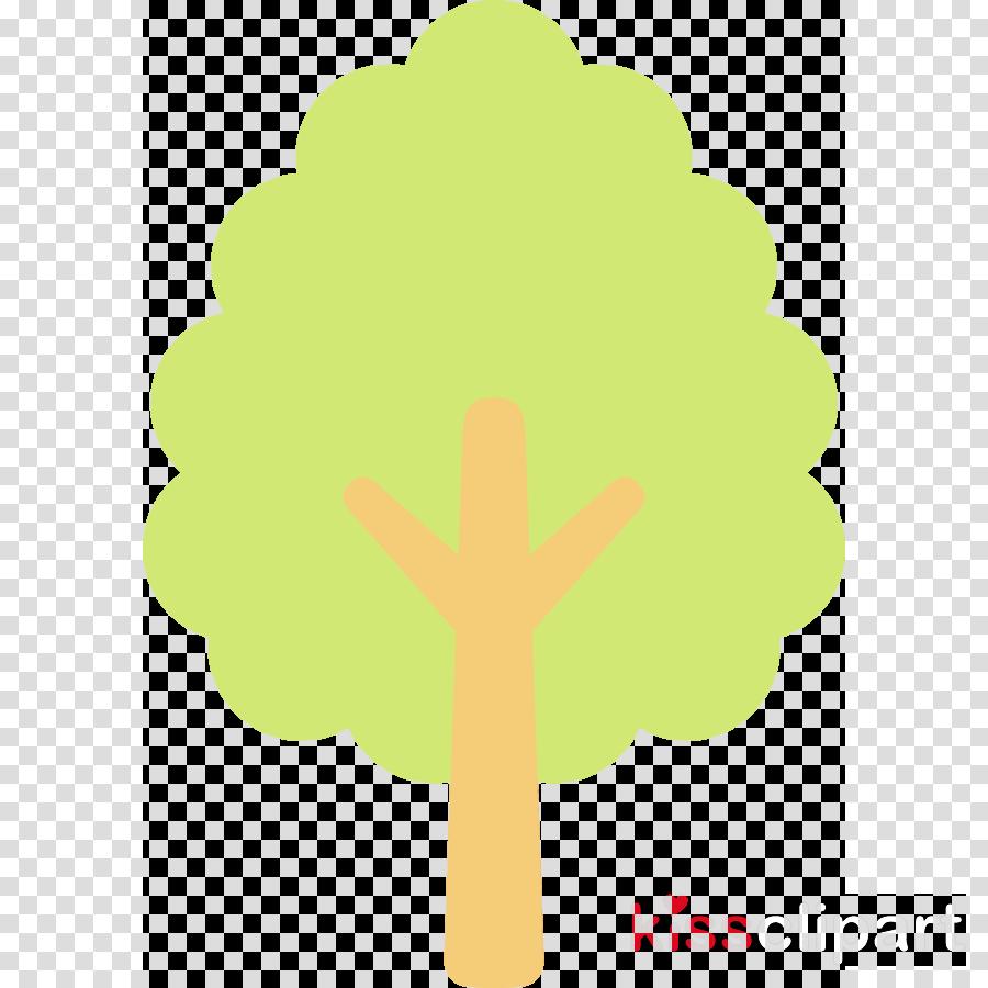 green leaf yellow symbol tree