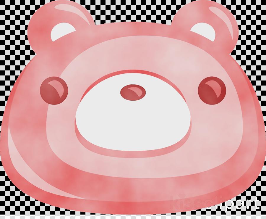 pink circle smile