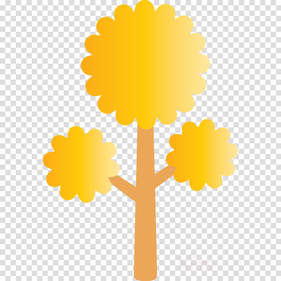yellow tree plant symbol