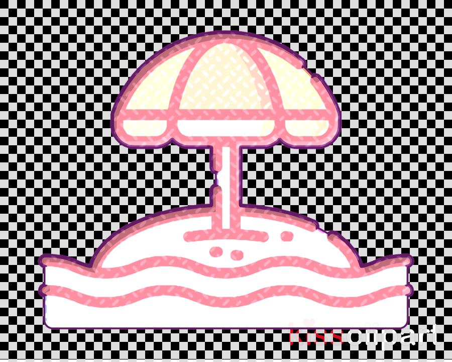Umbrella icon Surf icon Summer icon