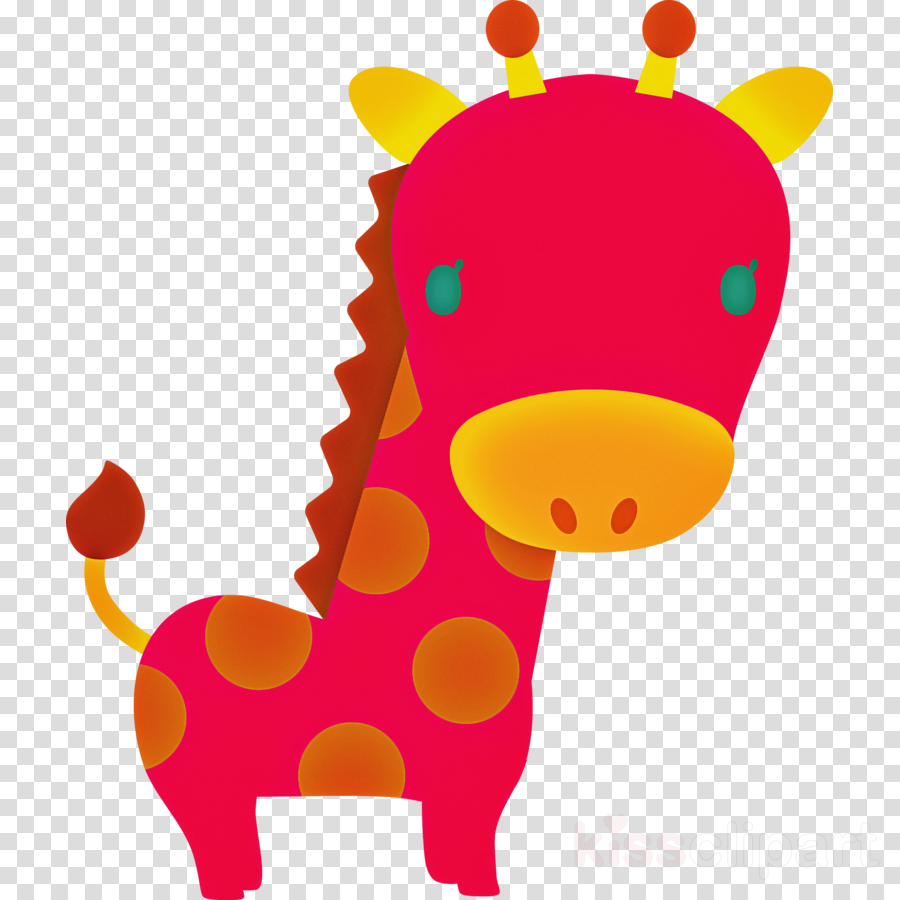 giraffe giraffidae cartoon pink snout