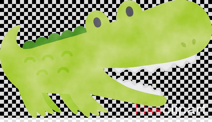 crocodile green crocodilia alligator animal figure
