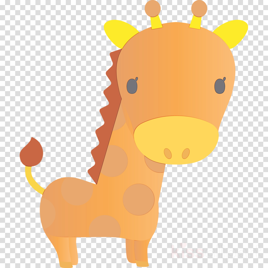 giraffe giraffidae cartoon animal figure yellow