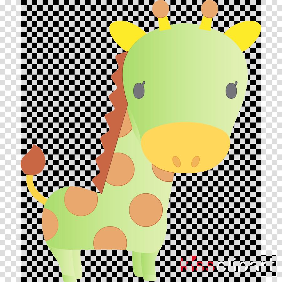 giraffe giraffidae cartoon yellow animal figure