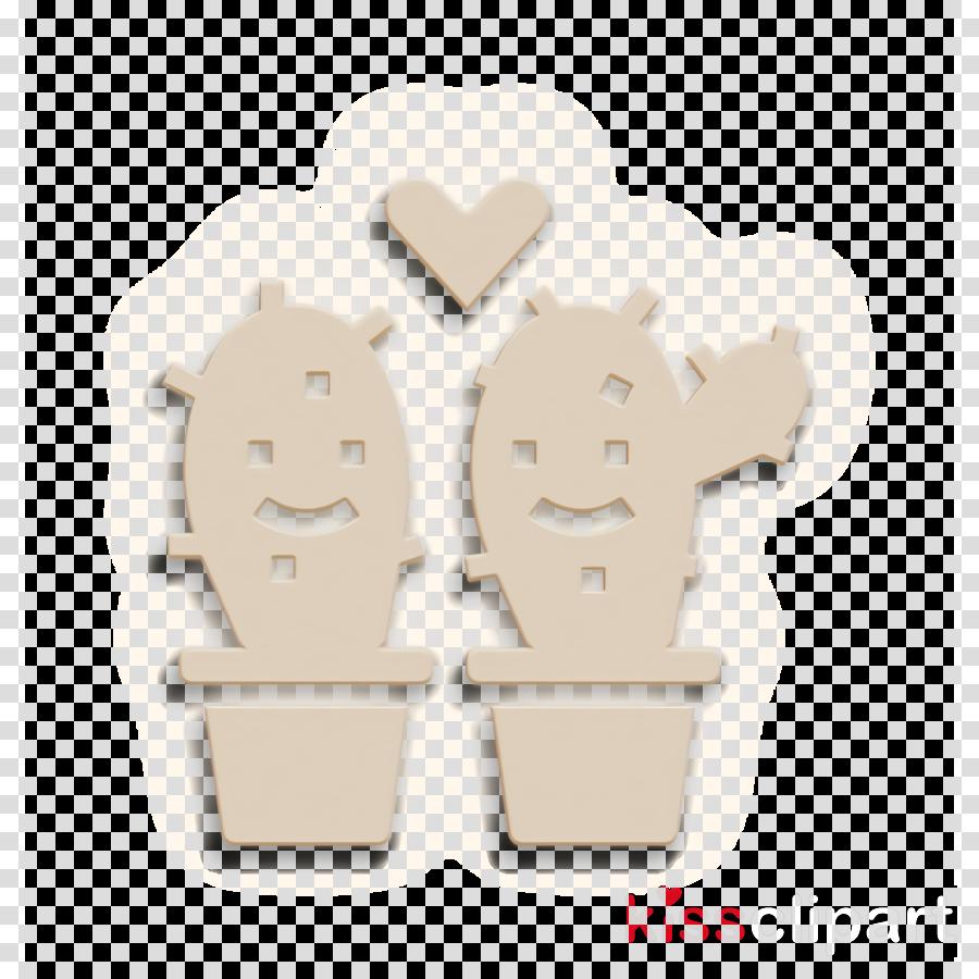 Cactus icon Wedding icon