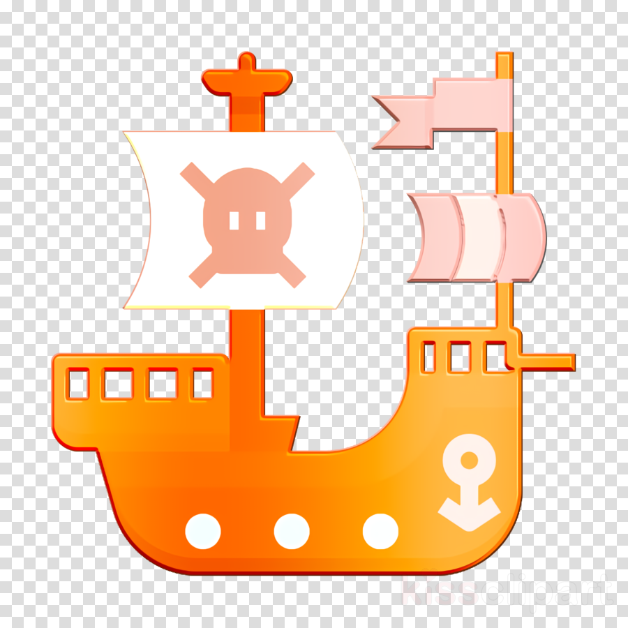 Game Elements icon Pirate flag icon Pirate ship icon