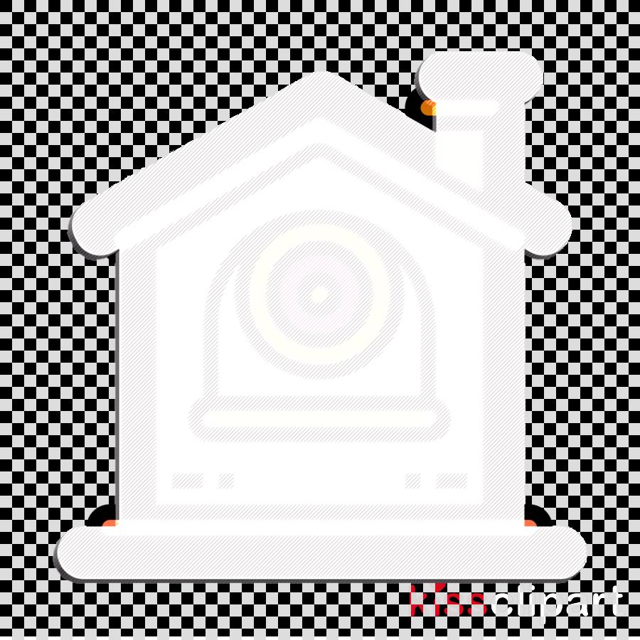 Cctv icon Home icon Smart house icon