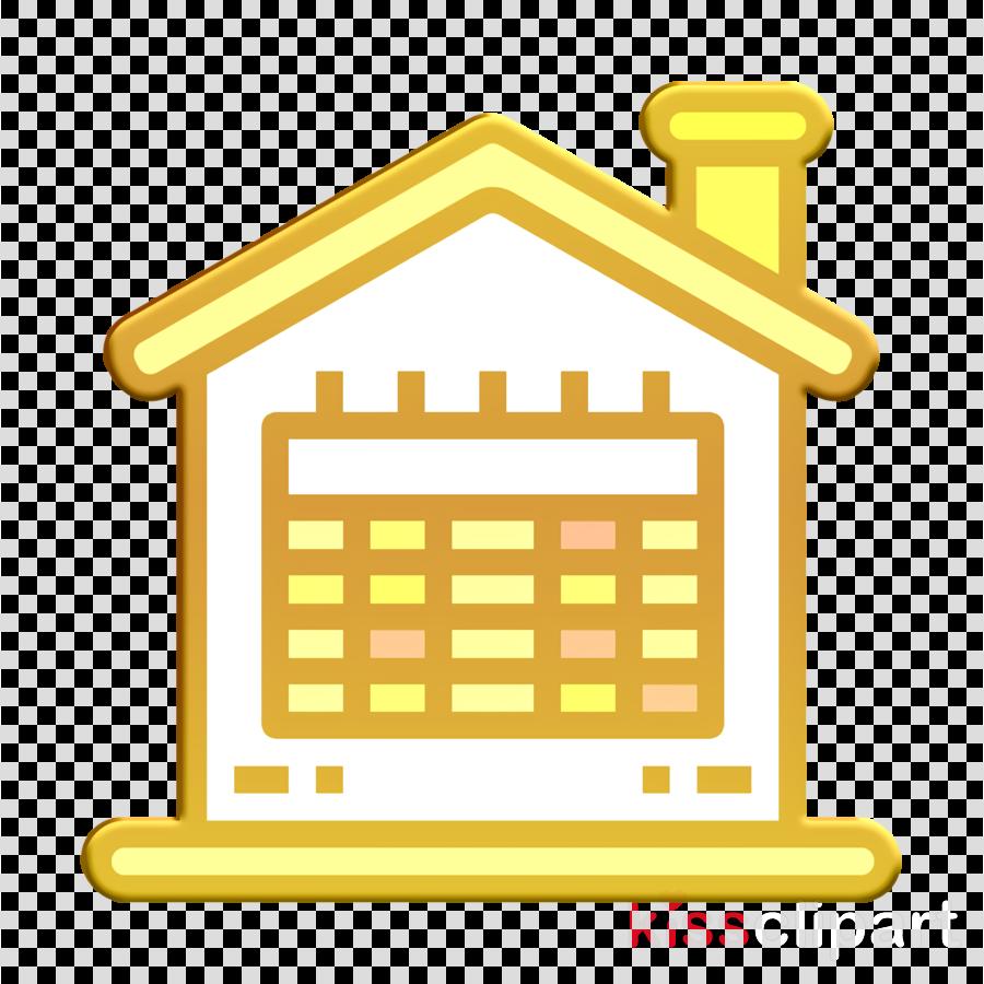 Calendar icon Real estate icon Home icon
