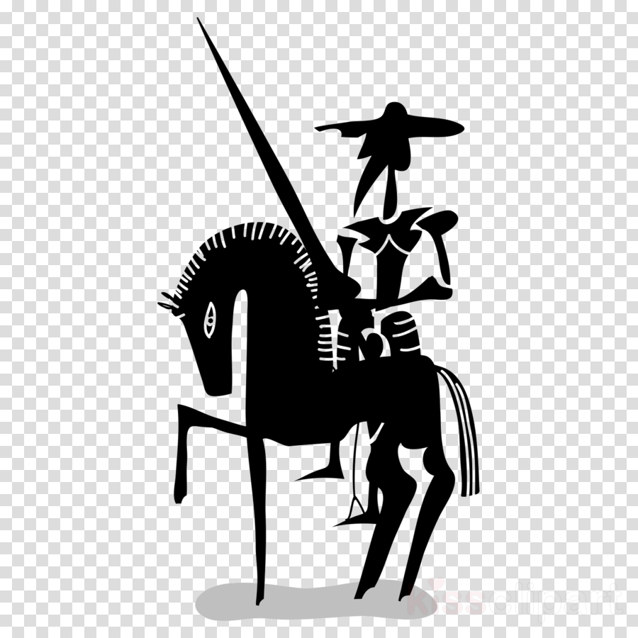 mane black-and-white silhouette horse