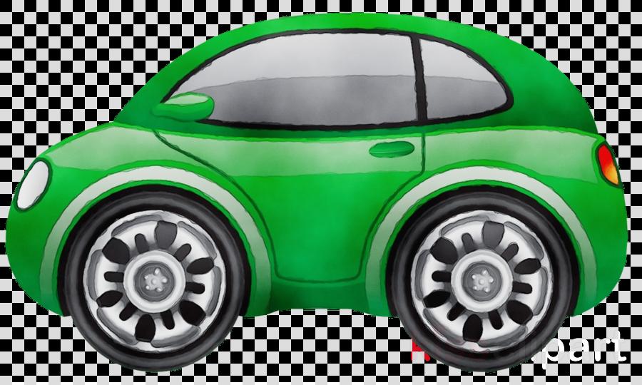 vehicle green car rim model car