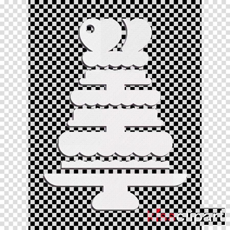 Cake icon Wedding icon Wedding cake icon