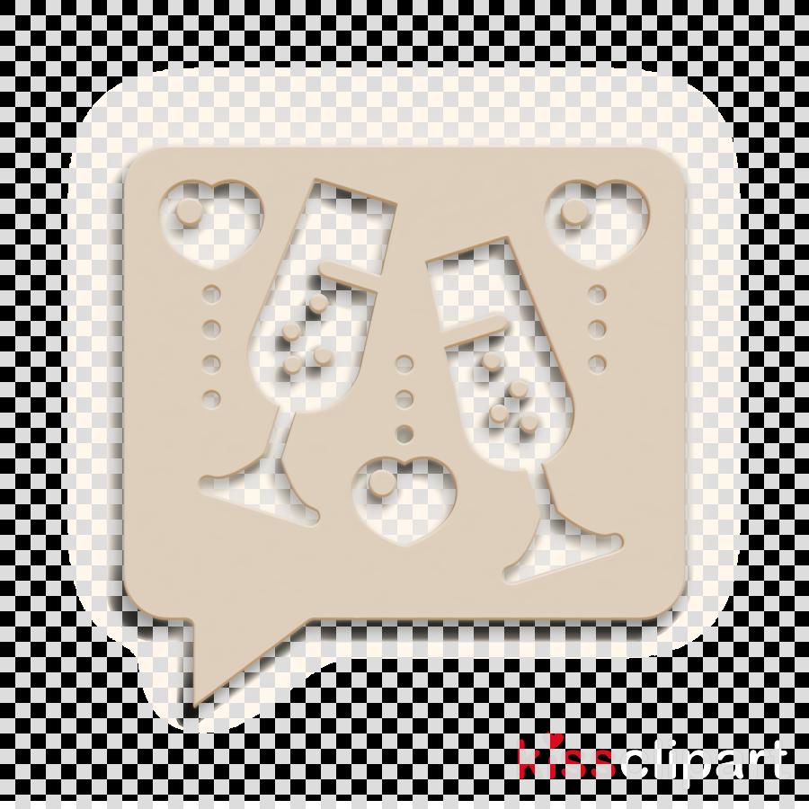 Wedding icon Love and romance icon Toast icon