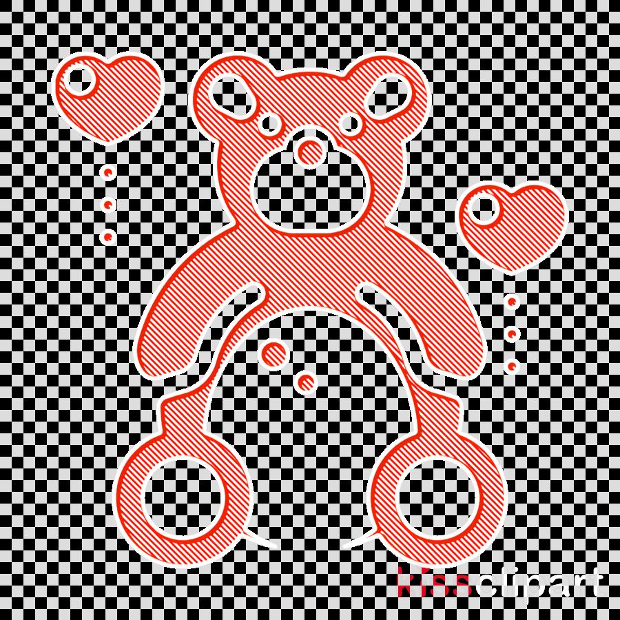 Teddy icon Toy icon Love icon