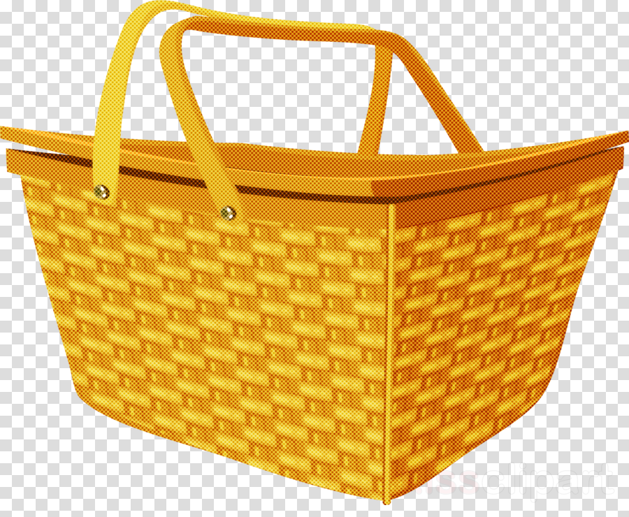 storage basket yellow basket home accessories picnic basket