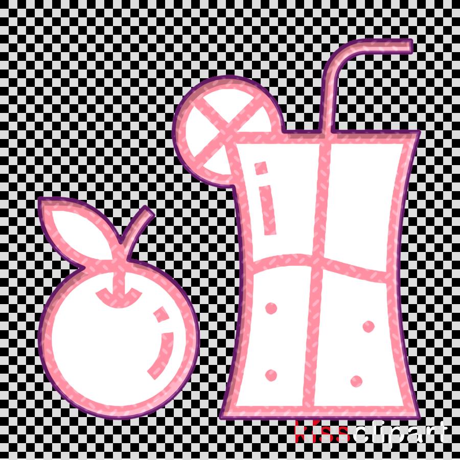 Fitness icon Fruit juice icon Fruit icon