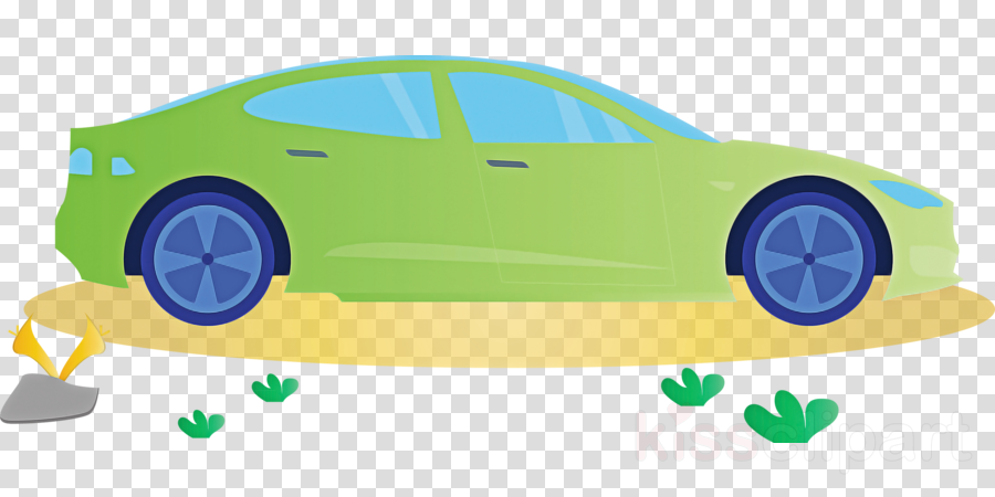green yellow vehicle door vehicle car