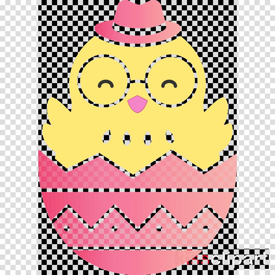 pink yellow owl pattern magenta