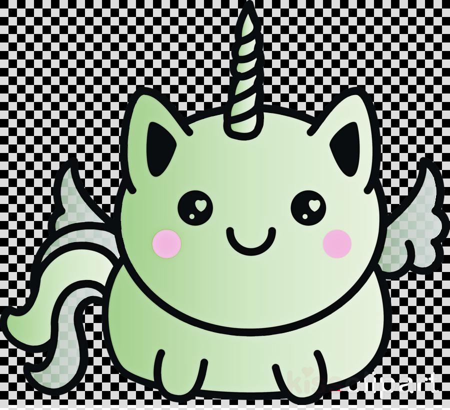 head green cartoon whiskers line