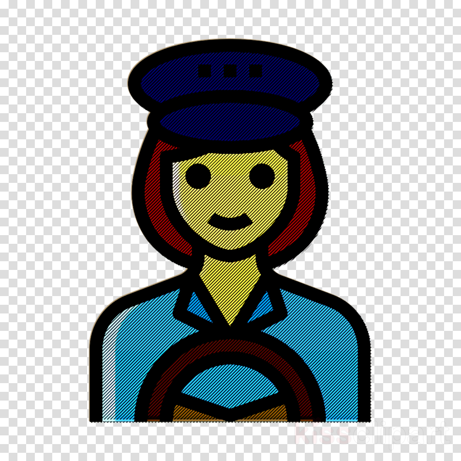 Professions and jobs icon Taxi driver icon Occupation Woman icon