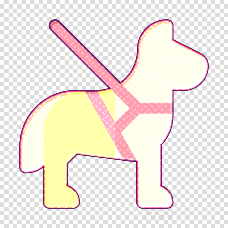Guide dog icon Dog icon Disabled People Assistance icon