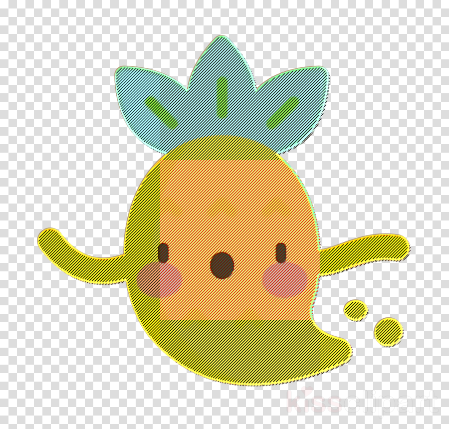 Pineapple Character icon Ghost icon