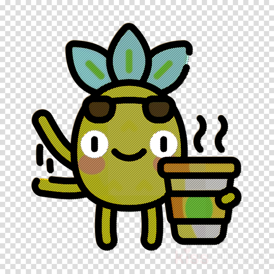 Coffee icon Food and restaurant icon Pineapple Character icon