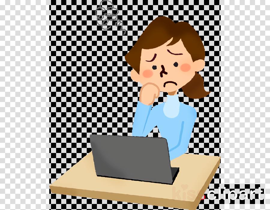 cartoon job technology laptop learning
