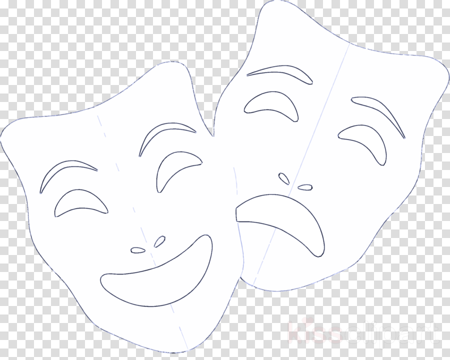 face white line art facial expression nose