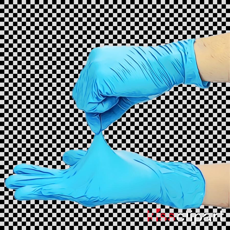glove medical glove turquoise aqua hand