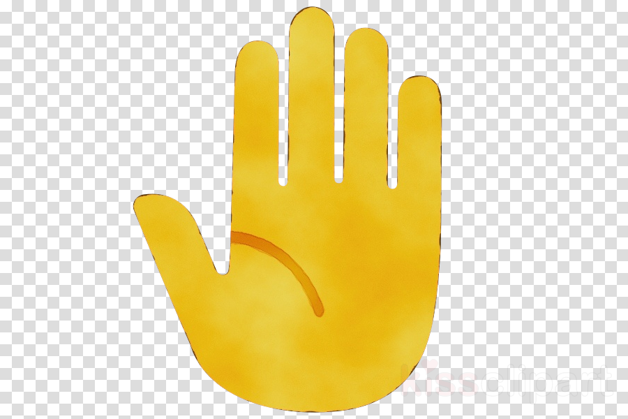yellow personal protective equipment glove finger hand