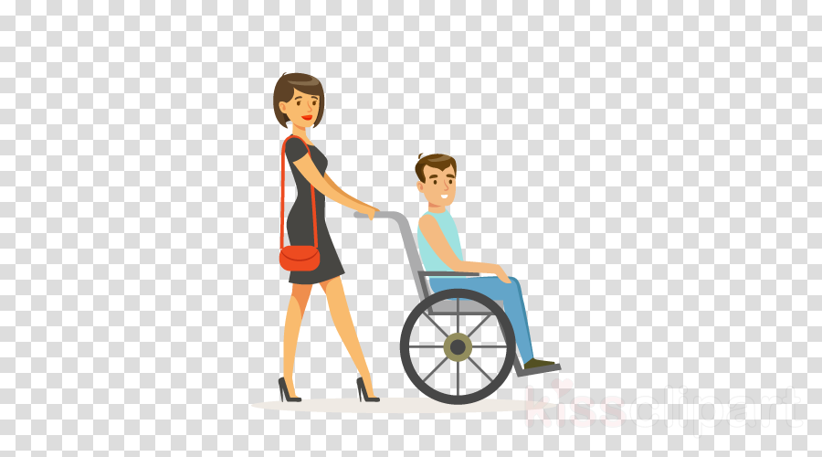 wheelchair cartoon vehicle wheel