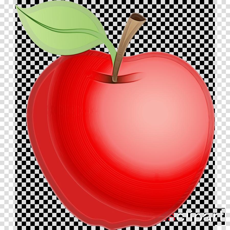 fruit red apple leaf plant